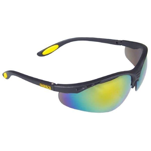 Dewalt Reinforcer DPG58 Eyewear Black/Fire Mirror/Yellow